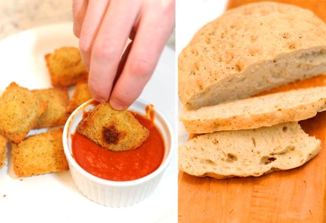 Lazzaroli Ravioli and Bread