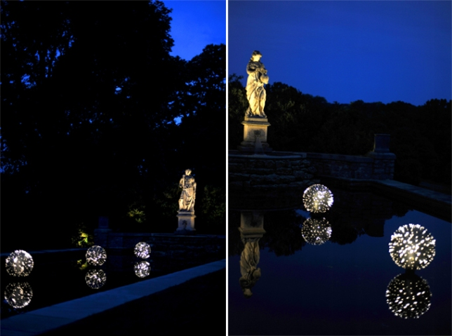 Fagin's Urchins: Created especially for Cheekwood's reflecting pool, this one is beautiful at twilight.