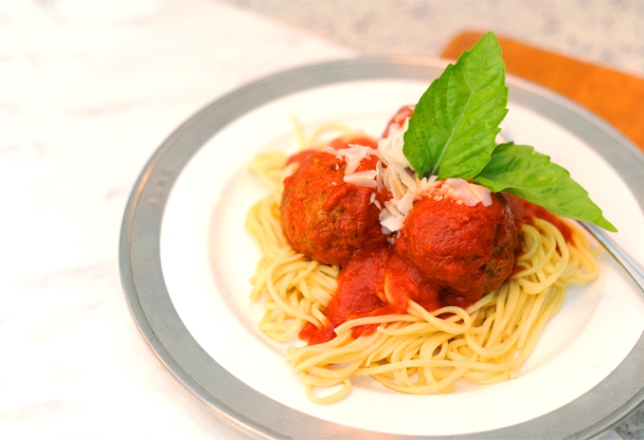 Lazzaroli Pasta's Spaghetti and Meatballs