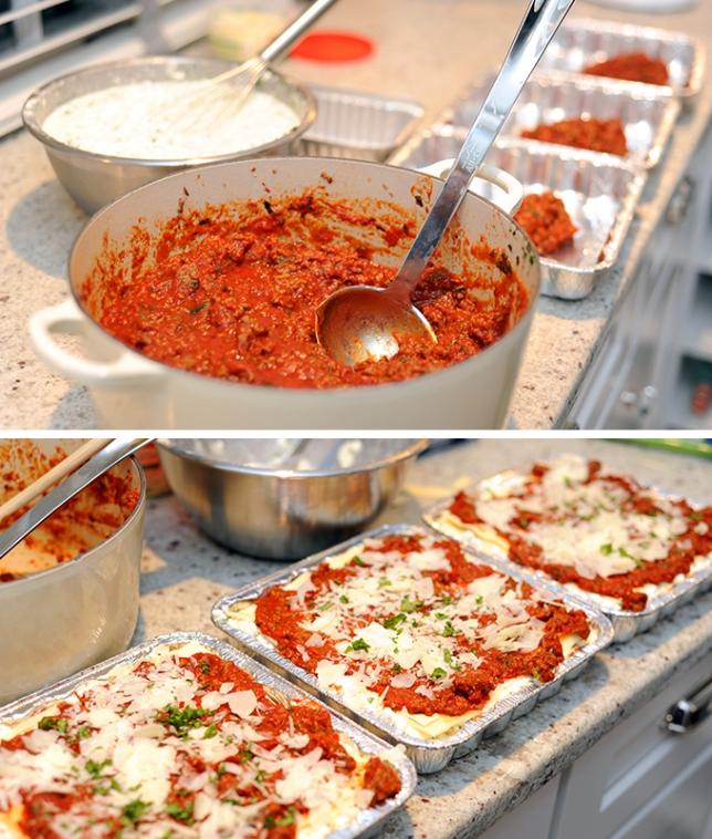 Lasagna Prep