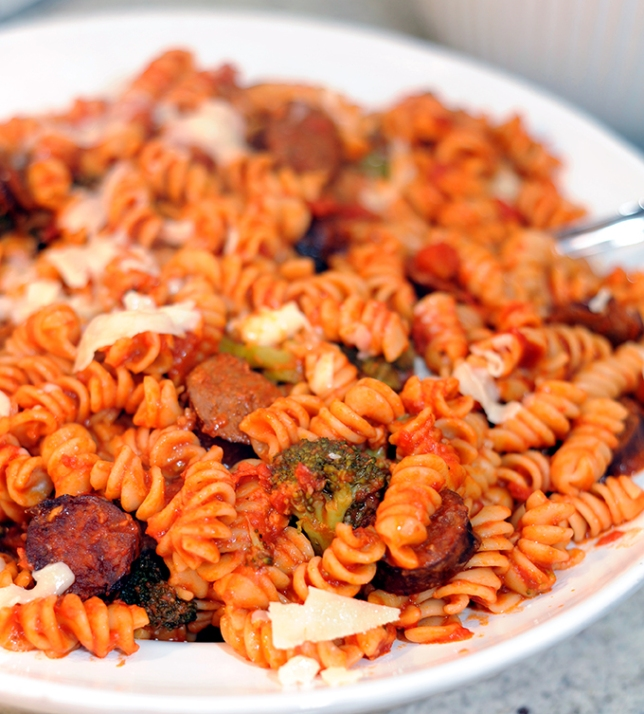 Rotini with Broccoli and Kielbasa