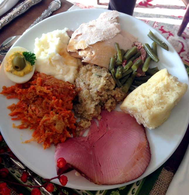 My Thanksgiving plate from Thanksgiving last year. I've got a lot to live up to!