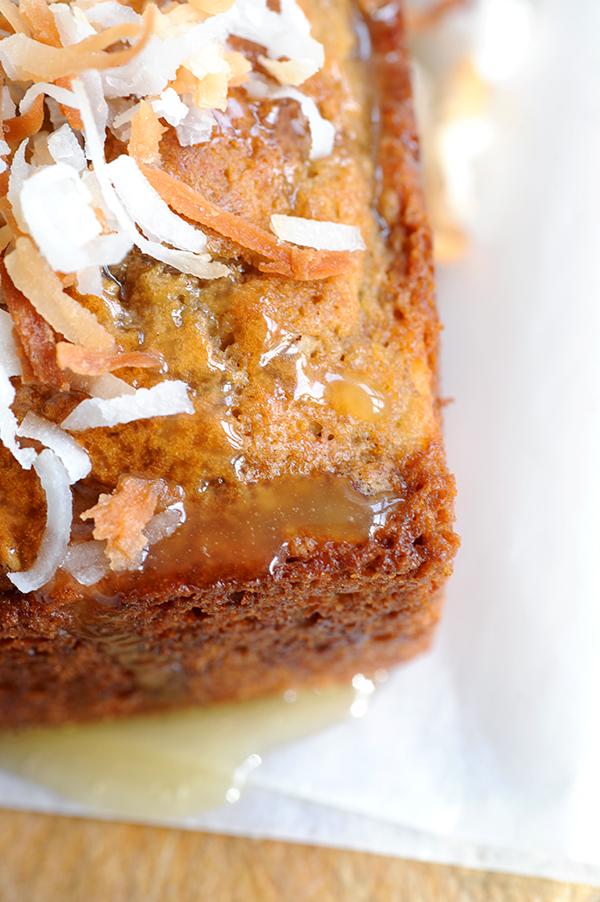 Lemon Coconut Banana Nut Bread with Warm Honey Butter Glaze | Styling ...