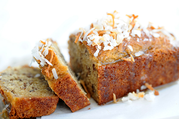 ... banana bread banana bread it is coconut banana bread with lemon glaze
