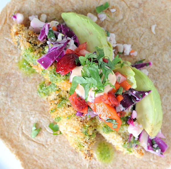 Fish Tacos with Grilled Corn Slaw and Strawberry Mango Salsa | Styling ...