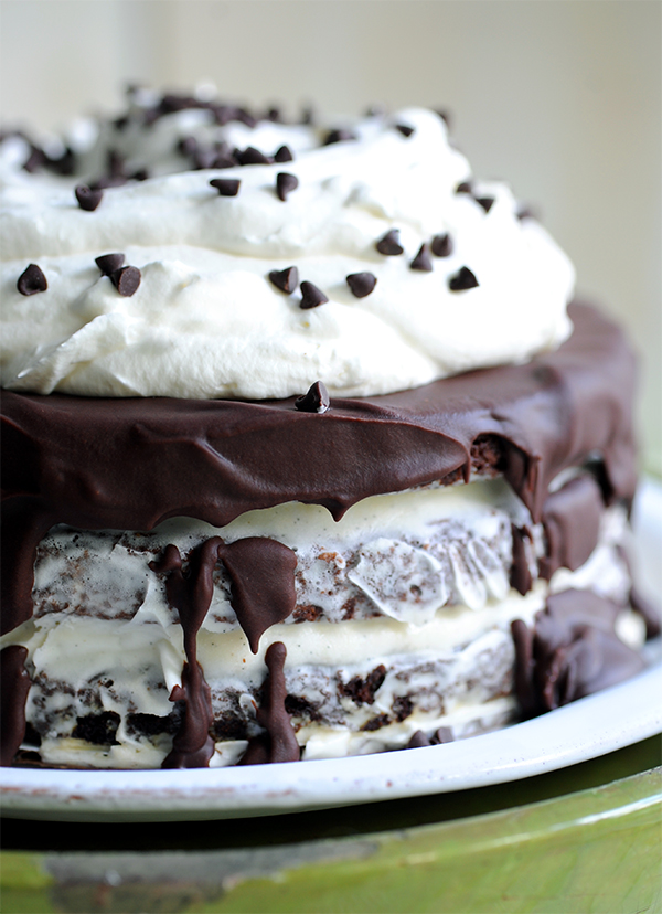 Brownie Ice Cream Layer Cake | Styling My Everyday