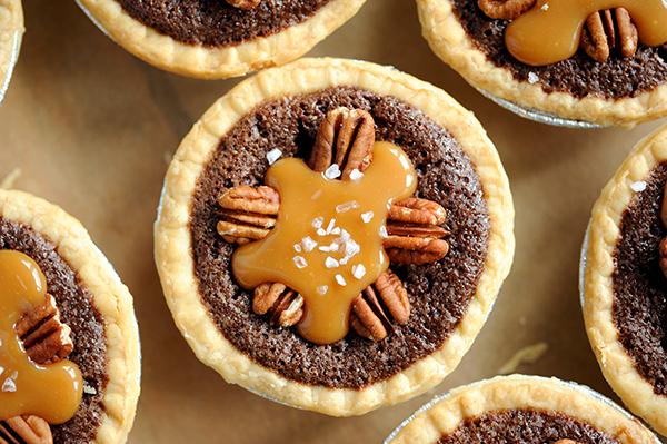 Mini Salted Caramel Fudge Pies-7947