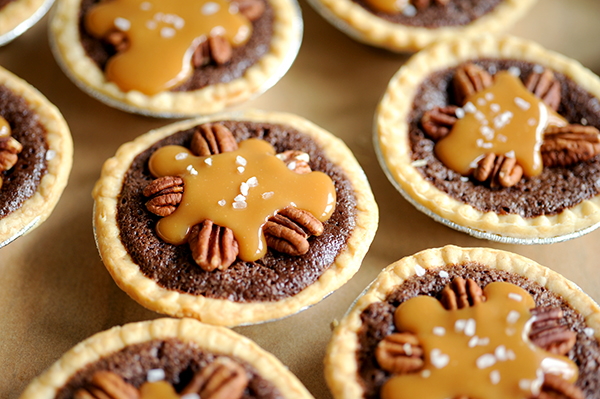 Mini Salted Caramel Fudge Pies-7955