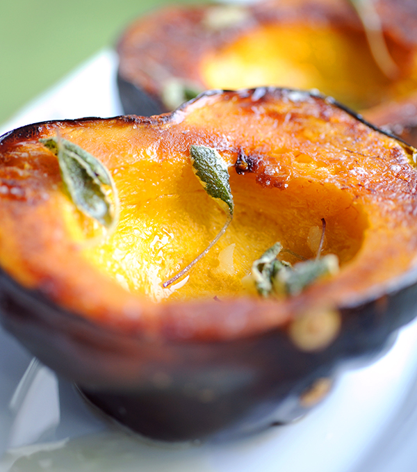Acorn Squash with Sage and Garlic Brown Butter | Styling My Everyday