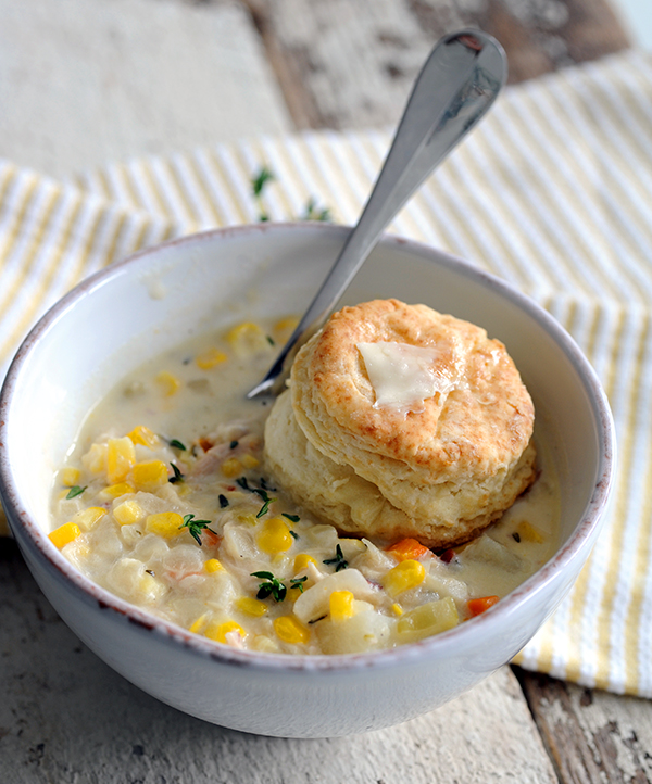 Chicken and Bacon Corn Chowder | Styling My Everyday