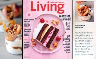 Instagram account (https://instagram.com/katiejacobsnashville/) featured in the June 2015 issue of Martha Stewart Living.